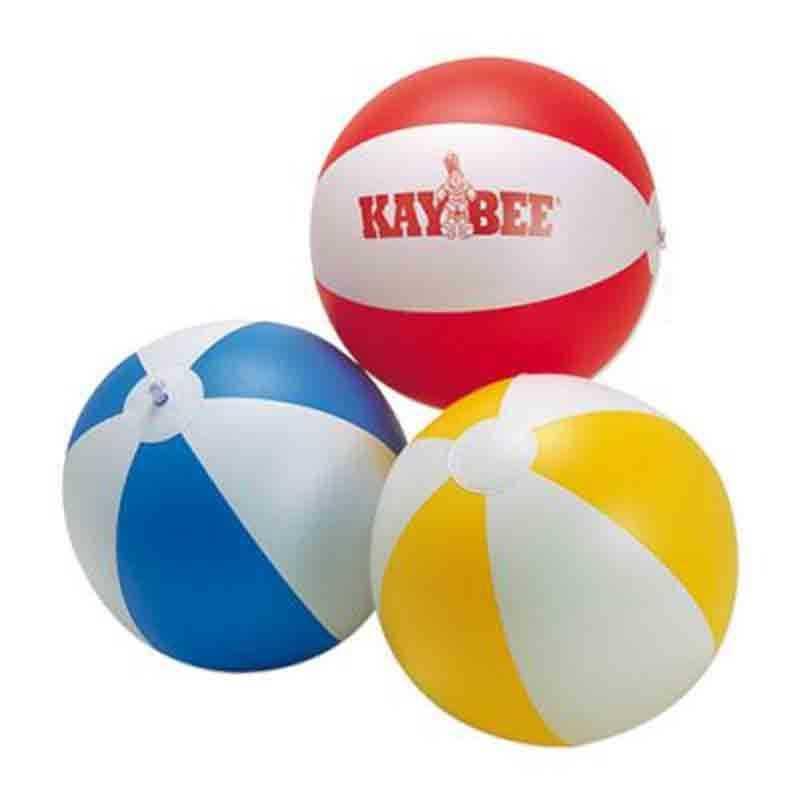 Ballon de plage blanc/bleu