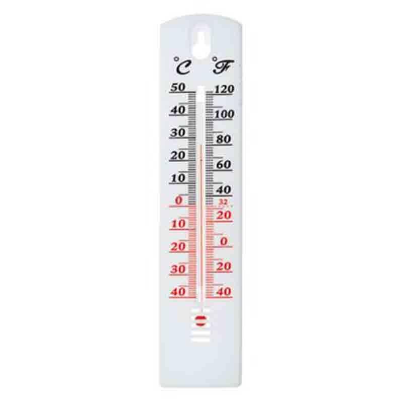 Thermomètre intérieur et extérieur blanc