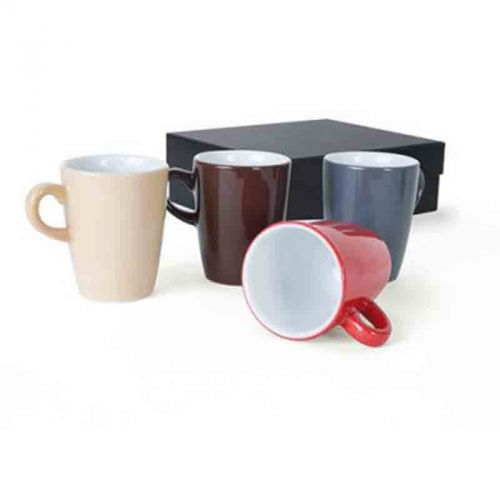 Set 4 tasses expresso 7.5 cl noir