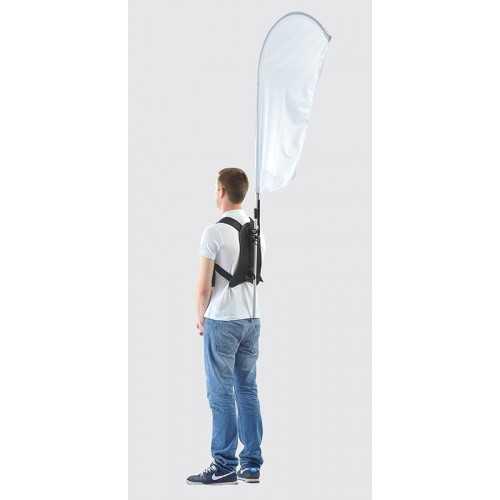 Drapeau sac à dos
