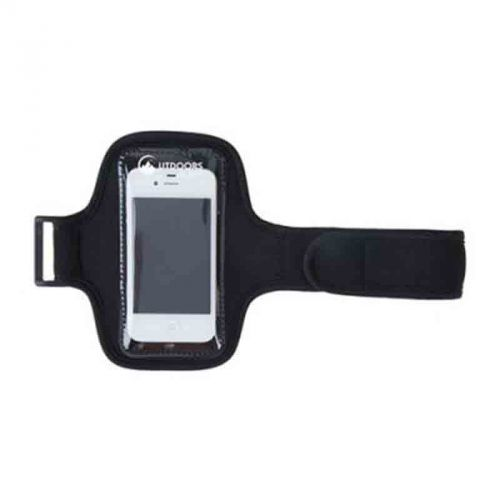 Brassard téléphone noir personnalisé