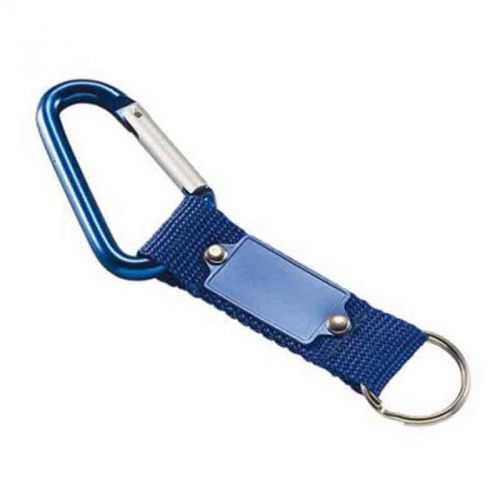 Porte-clés carabiner bleu