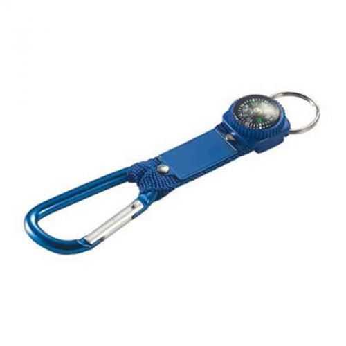 Porte-clés carabiner boussole bleu