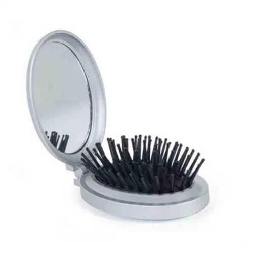 Brosse avec miroir argent/noir