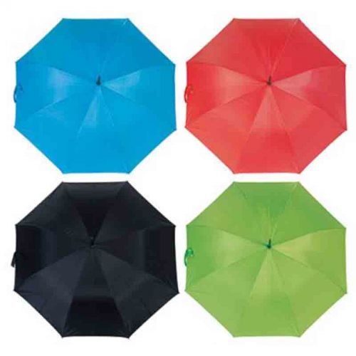 Parapluie golf bleu turquoise/argent