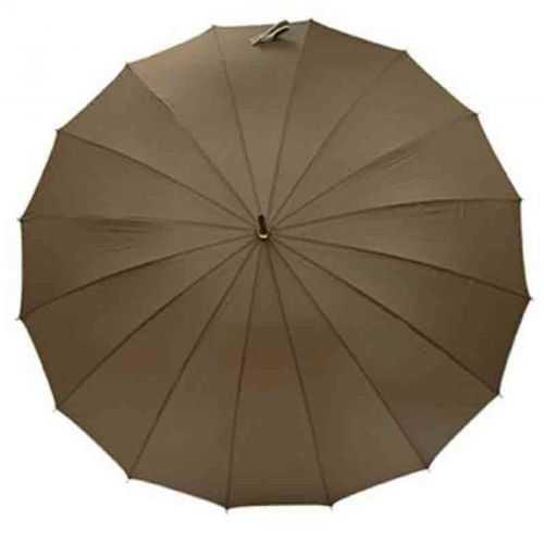 Parapluie canne blanc/gris