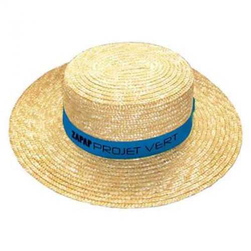 Canotier personnalisable bandeau non monté jaune clair/bleu roi Taille adulte 57 env. Bandeau 61 x 4 cm Paille