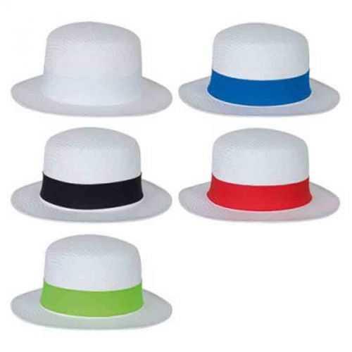 Chapeau personnalisable canotier blanc/blanc Taille adulte 59 env. Bandeau 59 x 4 cm Papier cellulose