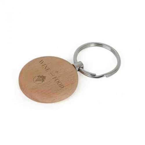 Porte-clés bois rond