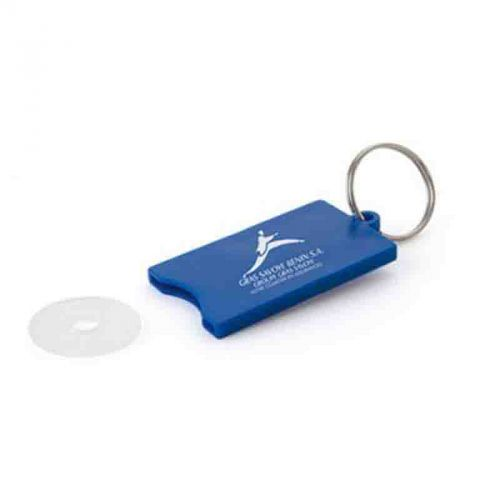 Porte-clef jeton plastique blanc