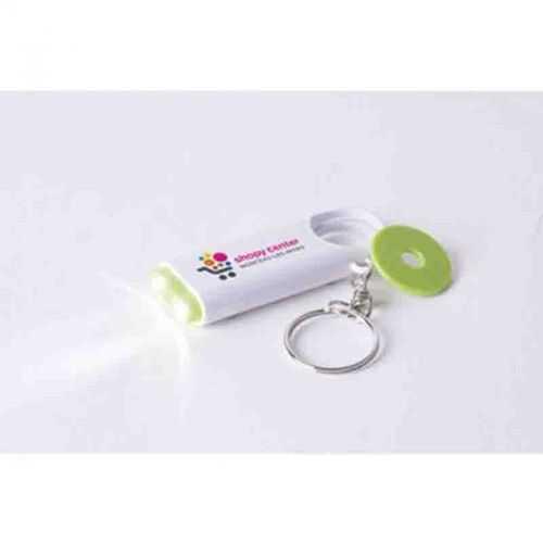 Porte-clés jeton 2 LED blanc/marine