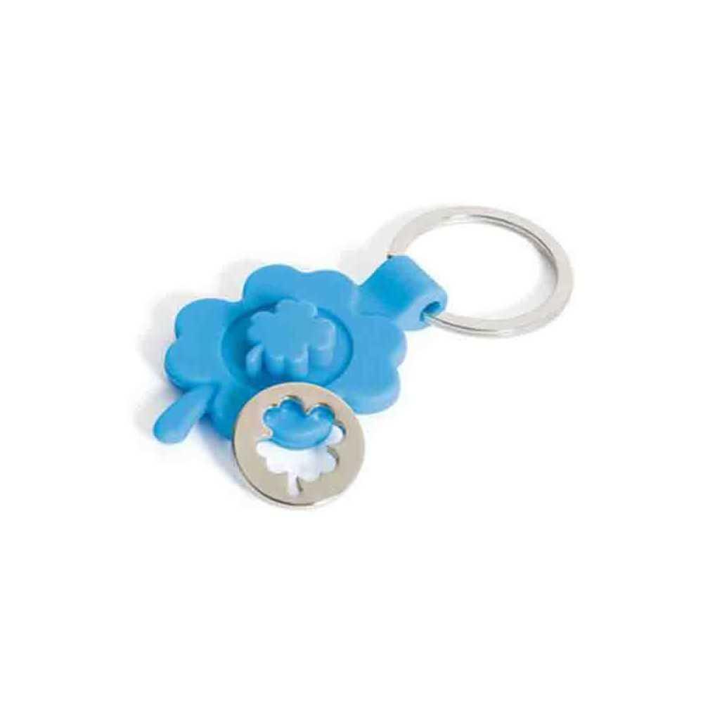 le porte cl s jeton tr fle bleu m tal de nos produits porte clef plastique personnalis s. Black Bedroom Furniture Sets. Home Design Ideas