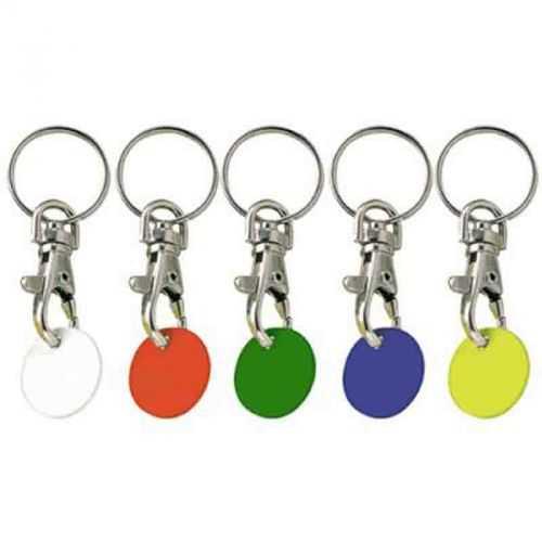 Porte-clés jeton plastique blanc