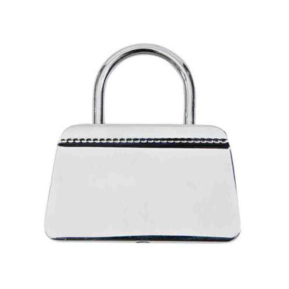 Porte cl s m tal sac main chrome personnaliser souhait - Porte sac a main ...
