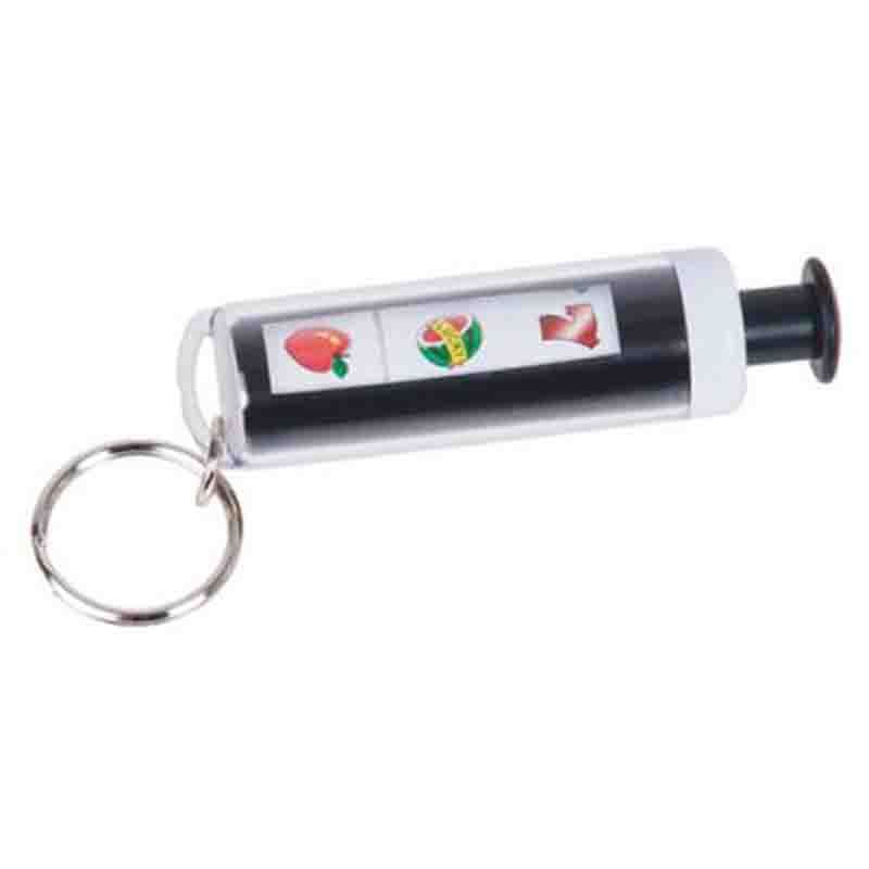 Porte-clef machine à sous noir et blanc