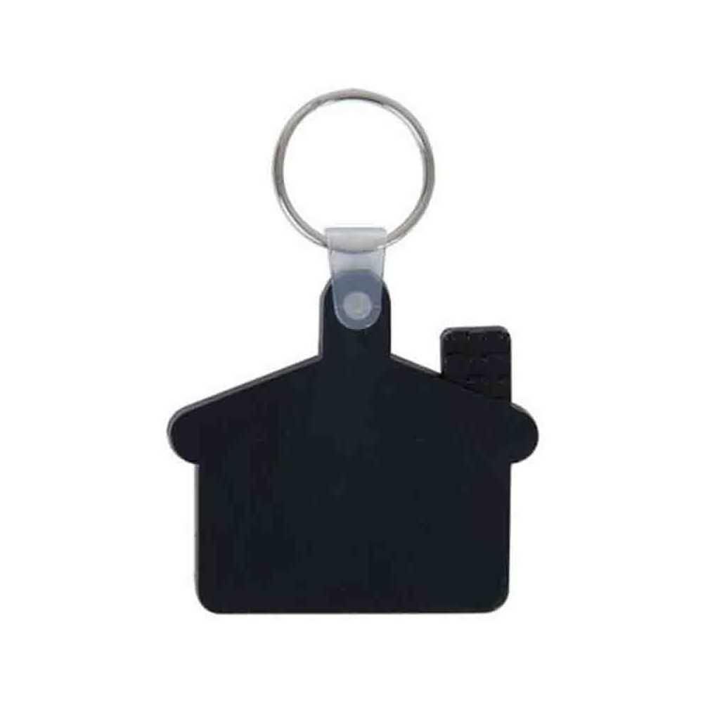 le porte cl s maison souple blanc de nos produits porte clef plastique personnalis s. Black Bedroom Furniture Sets. Home Design Ideas