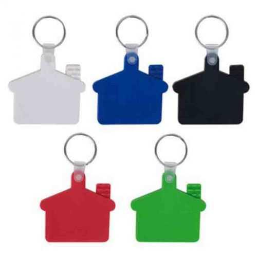 Porte-clés maison souple blanc