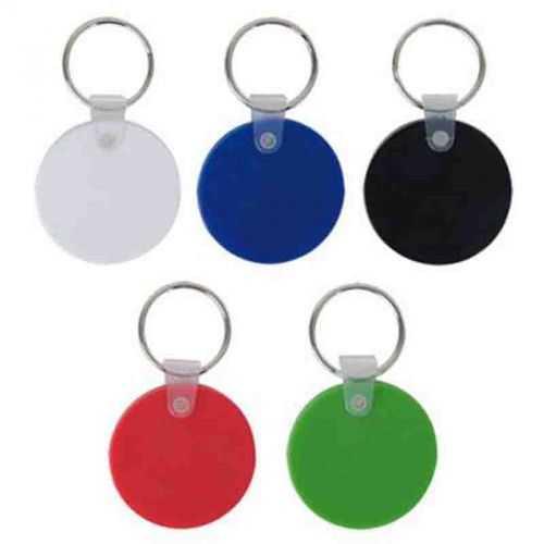Porte-clés rond souple blanc