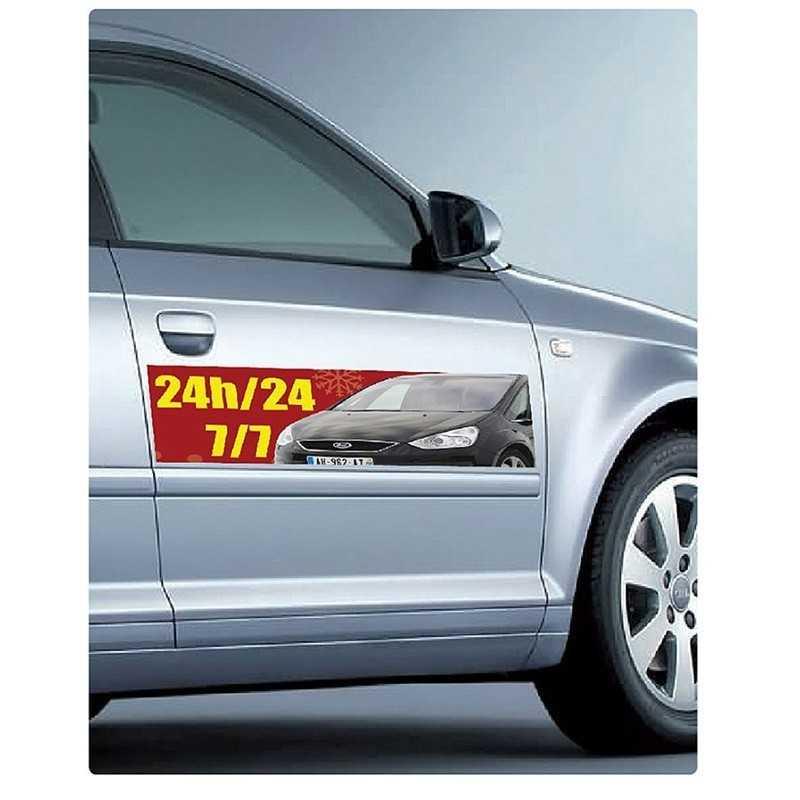 magnet personnalisé voiture