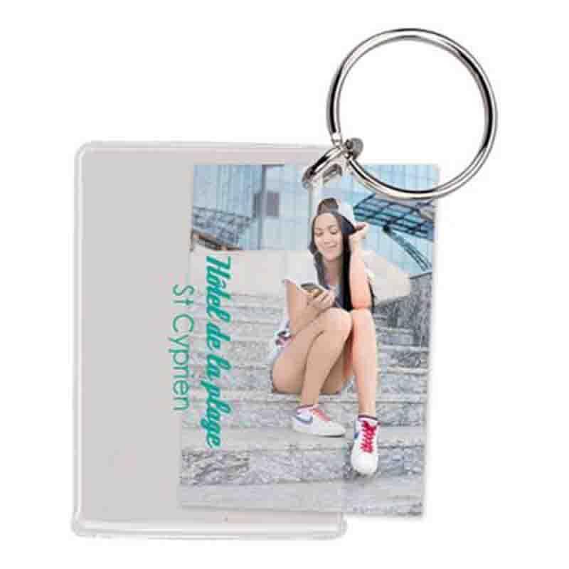 Porte-clés photo transparent