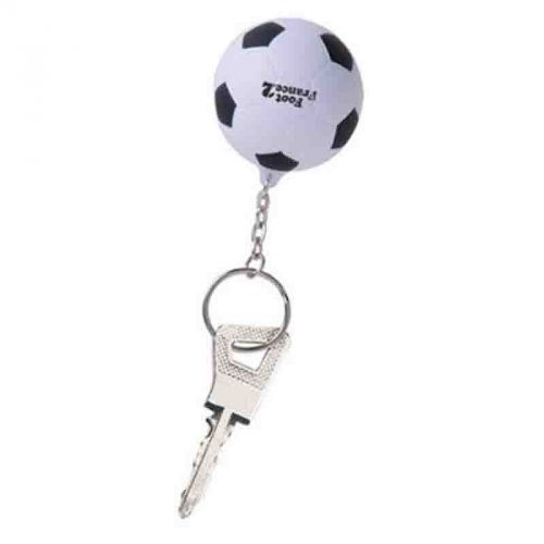 Porte-clés football blanc/noir
