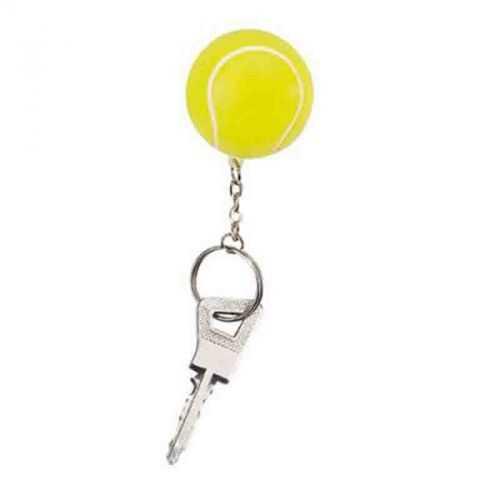 Porte-clés tennis jaune