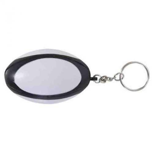 Porte-clés rugby noir/blanc