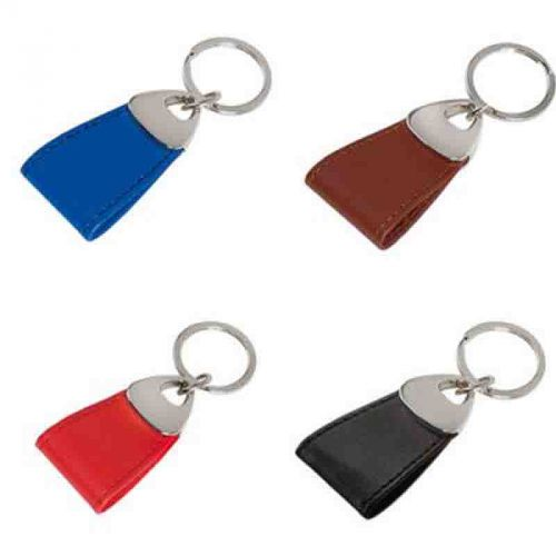 Porte-clés PU/métal marron