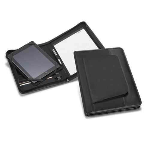 Conférencier A4 noir avec poche extérieur zippée