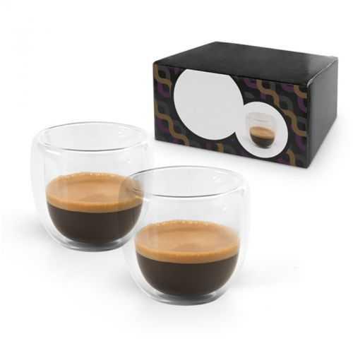 Set à café verres double parois