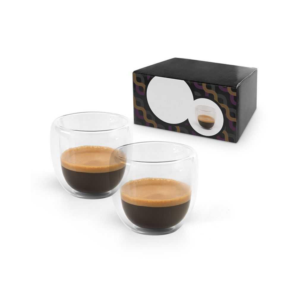 set caf personnalisable de 90 ml avec 2 verres isothermes. Black Bedroom Furniture Sets. Home Design Ideas
