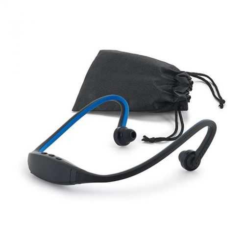 Écouteurs bleu pour le sport