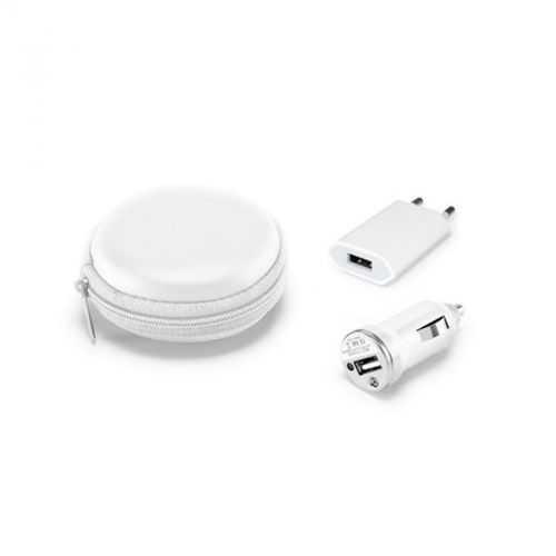 Set chargeur USB blanc