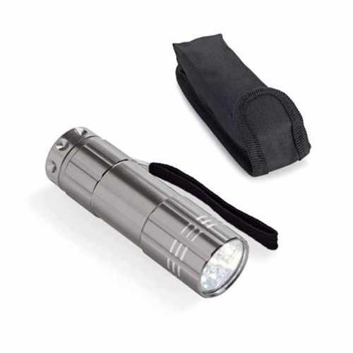 Lampe de poche aluminium 9 LEDS