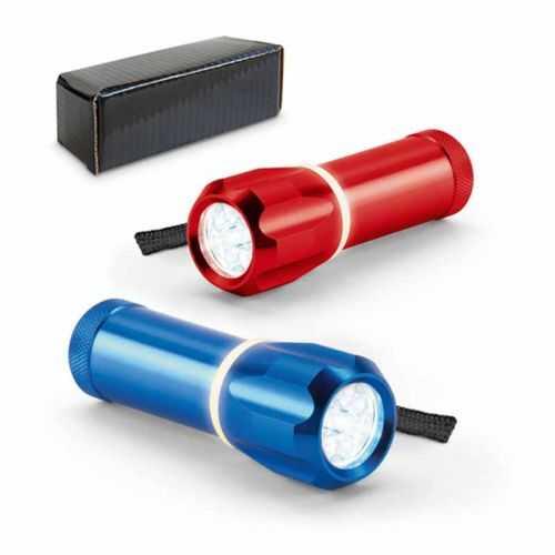 Lampe de poche métal 9 LEDS