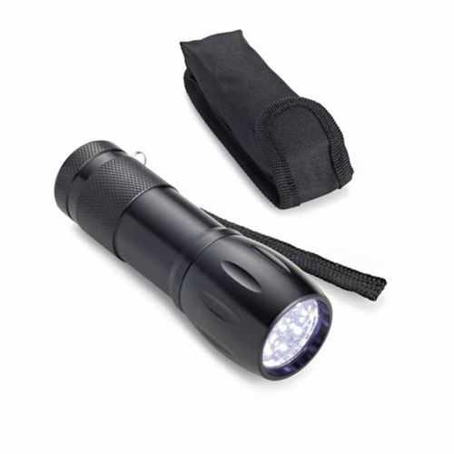 Lampe de poche aluminium noir