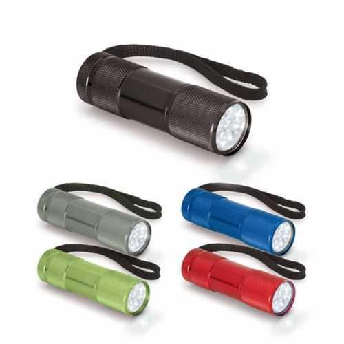 Lampe de poche alu 9 LEDS