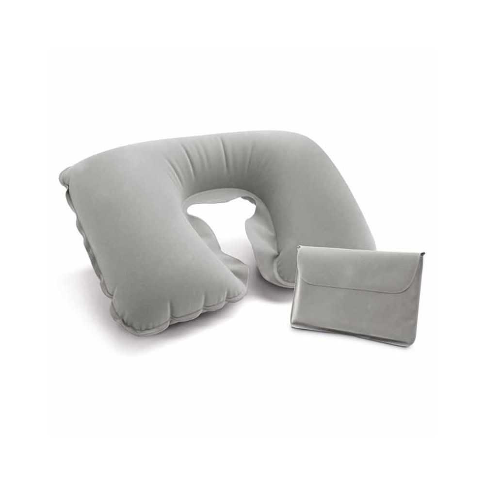 oreiller publicitaire de voyage gris pour plus de confort. Black Bedroom Furniture Sets. Home Design Ideas