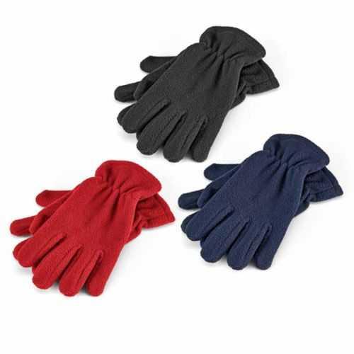 Gants personnalisés noir, rouge, bleu polaire 200 g/m². Taille: 8