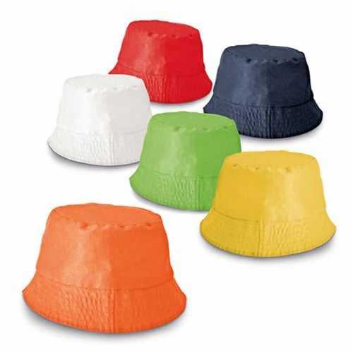 Bob personnalisé bleu, rouge, blanc, jaune, orange, vert clair TC. Taille: 580 mm 160 g/m²