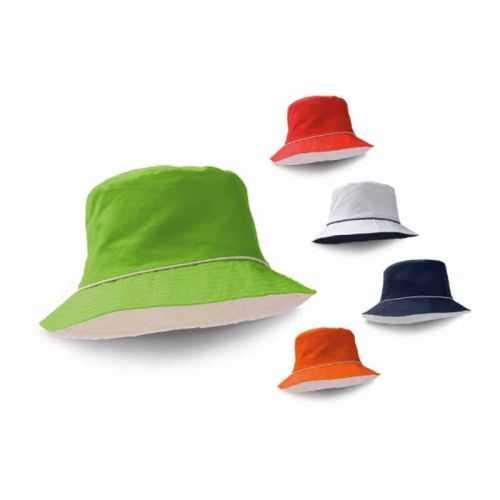 Bob personnalisé bleu, rouge, blanc, orange, vert clair TC. Taille: 580 mm
