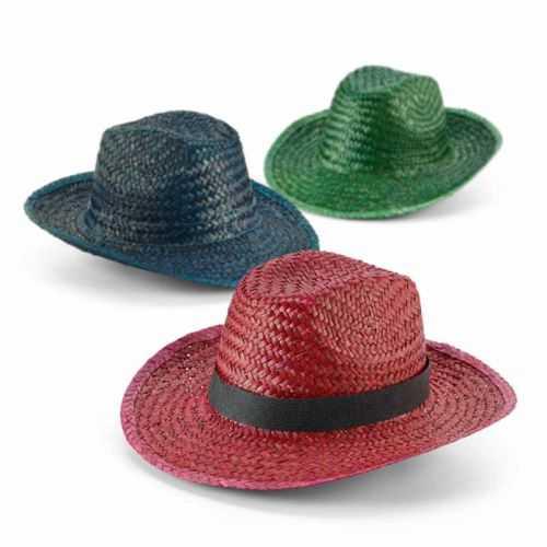 Chapeau personnalisé paille colorée bordeax, bleu, vert Ruban non inclus. Taille: 580 mm