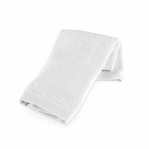 Serviette publicité de sport coton blanc