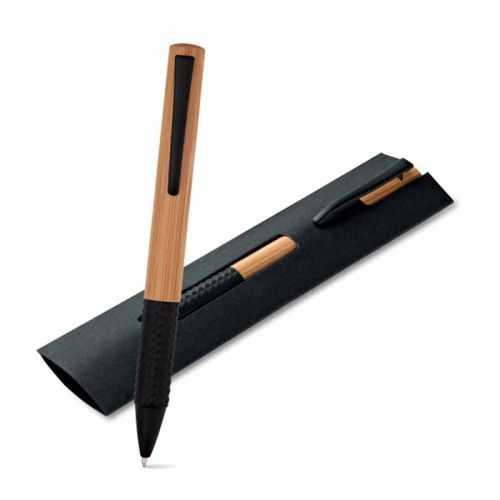 Stylo à bille noir bambou BACH