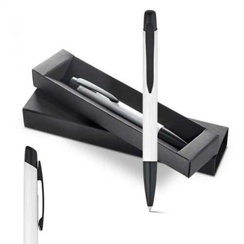 Coffret RAIA stylo à bille argenté