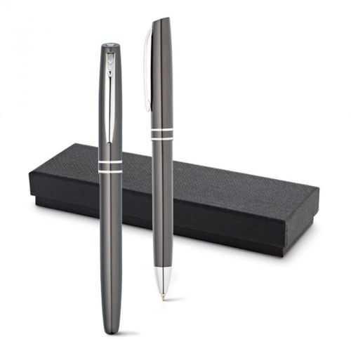 Set stylo roller et stylo à bille grun métal HALEY