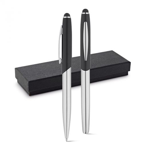 Set stylo roller et stylo à bille noir DOUBLETTE