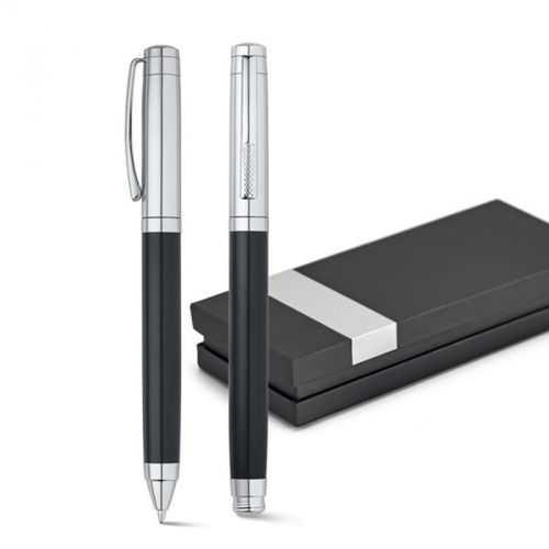 Set stylo roller et stylo à bille noir ZAIRE