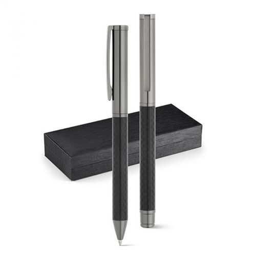 Set stylo roller et stylo à bille grun métal TARTAN