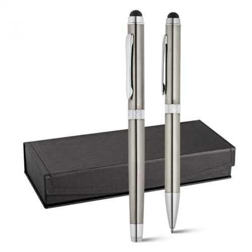 Set stylo roller et stylo à bille nickel CANNES